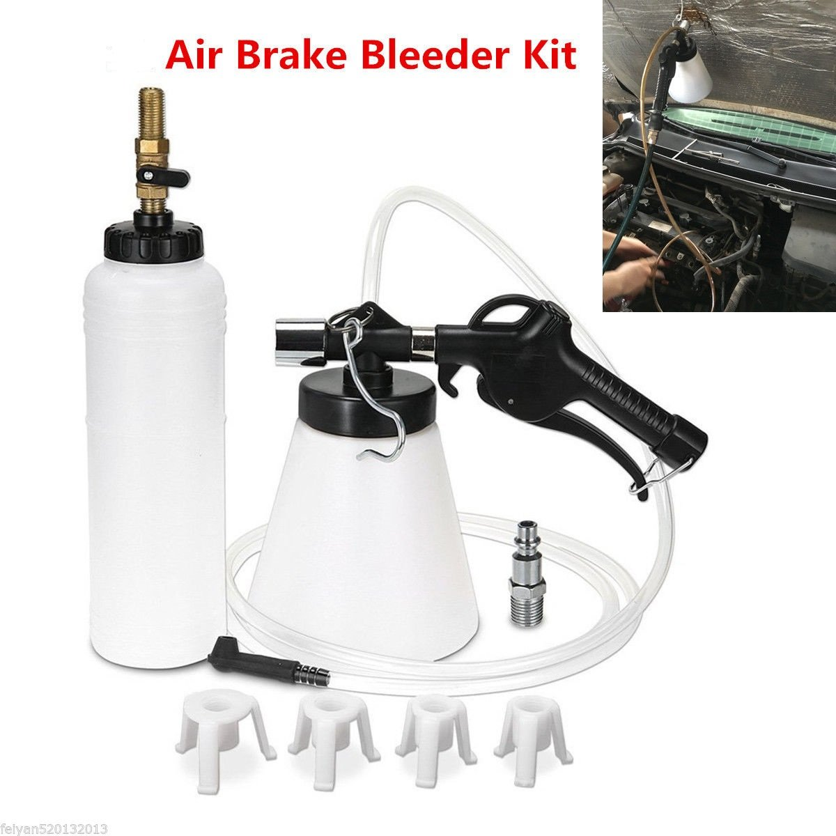 Autool Car Van Brake Bleeder Bleeding Fluid Change kit Air Pneumatic Garage Vacuum Tool