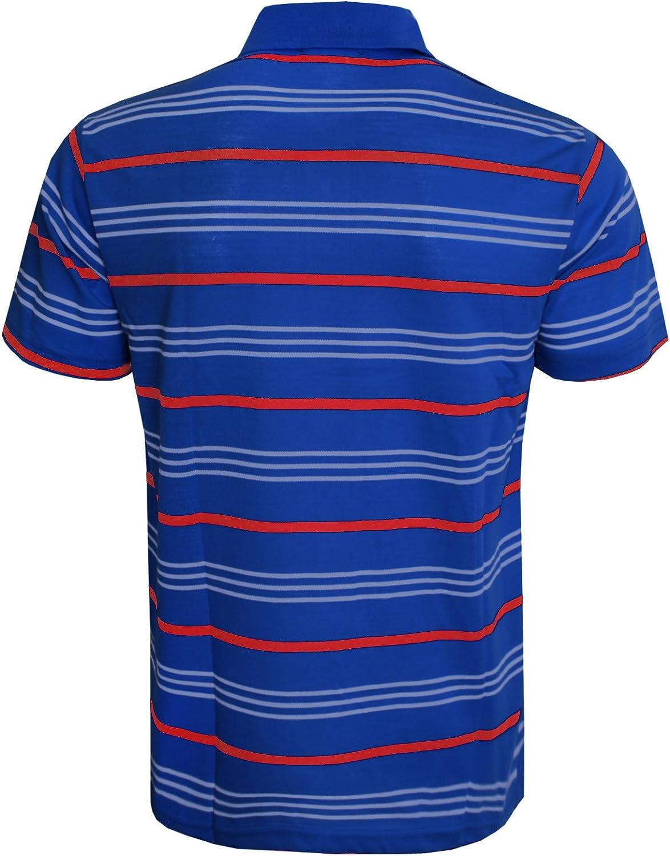 Para hombre de manga corta Polo de rayas Top camiseta de tenis de golf tees, muchos estilos en lista Azul azul L: Amazon.es: Ropa y accesorios