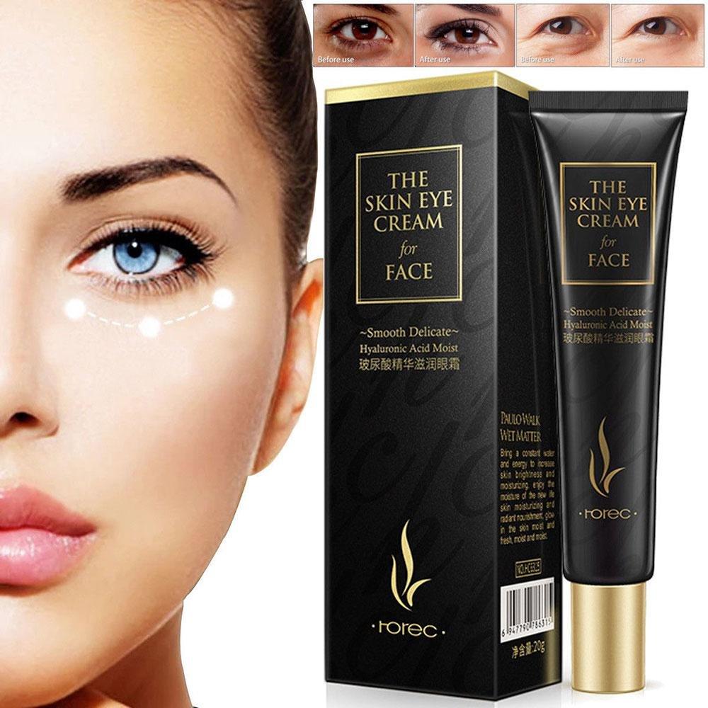 Eye Cream–Leegoal siero occhi Eye gel, anti-invecchiamento crema contorno occhi con acido ialuronico per occhiaie, rigonfiamenti, Eye Bags, rughe e piede del corvo–migliore trattamento naturale per donne e uomini