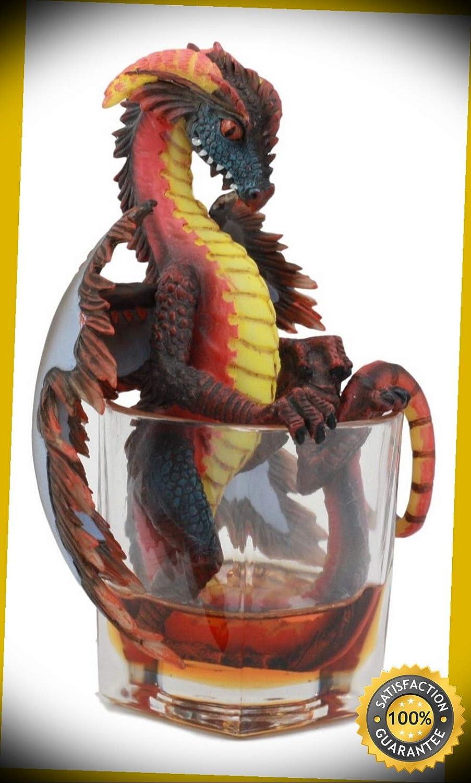 KARPP Drunken Rum Spirit Dragon Statue Medieval Renaissance Fantasy Decor Figurine Perfect Indoor Collectible Figurines