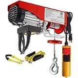 Partsam 220 lbs Lift Electric Hoist Crane Remote Control Power System, Zinc-Plated Steel Wire Overhead Crane Garage…
