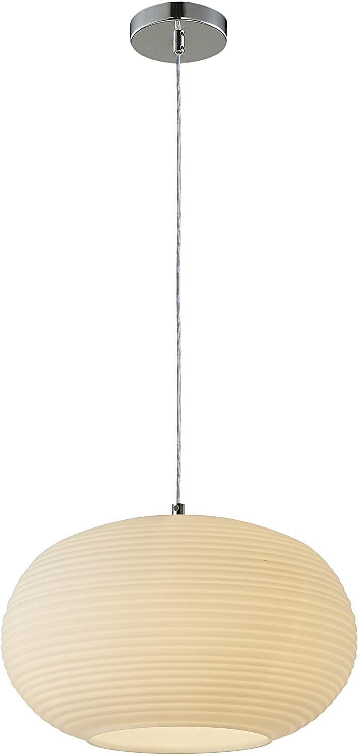 Summitland 13.5 inch Pendant Lamp with Opal Glass Shade