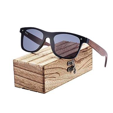 Amazon.com: Gafas de sol de madera de bambú 2019 para hombre ...
