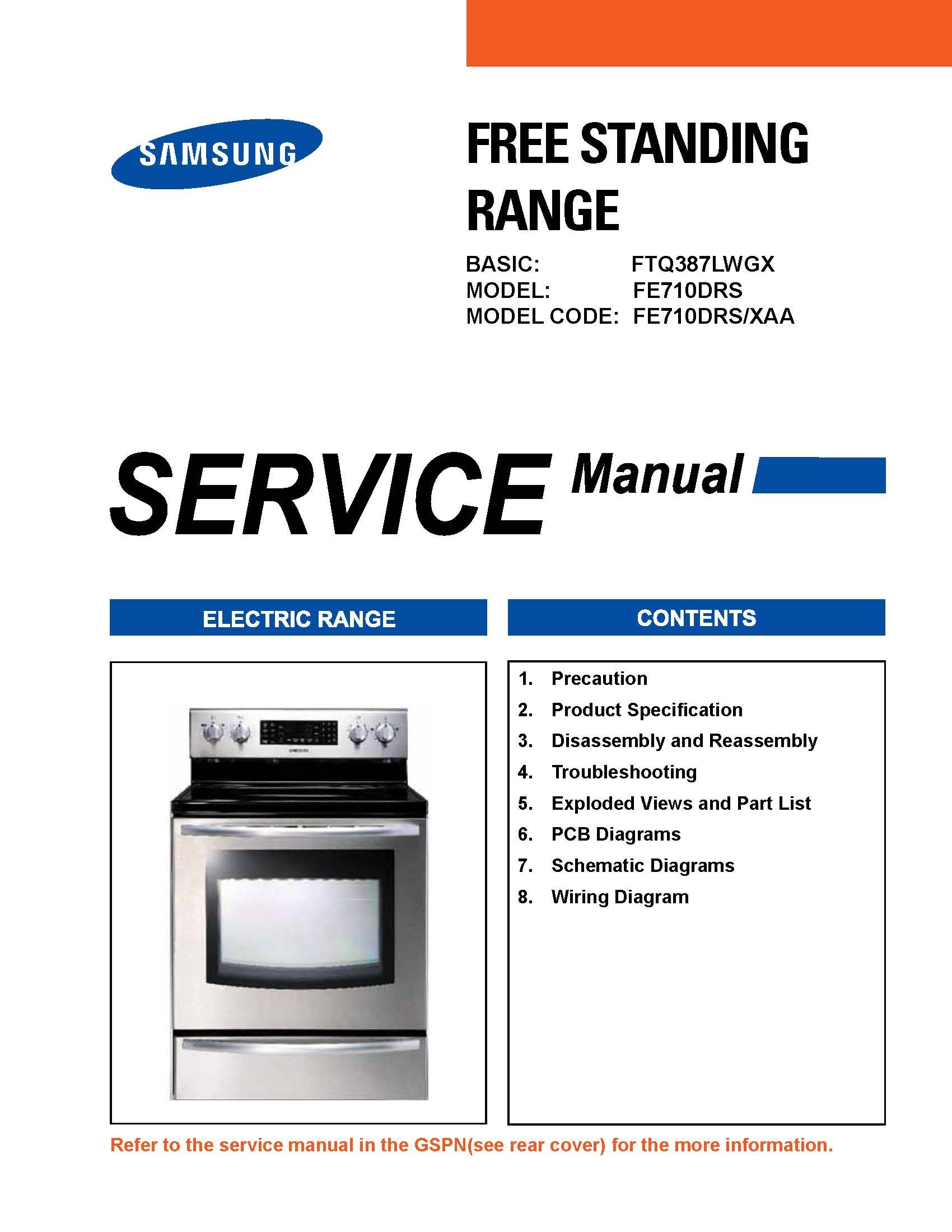 samsung fe710drs service manual repair guide