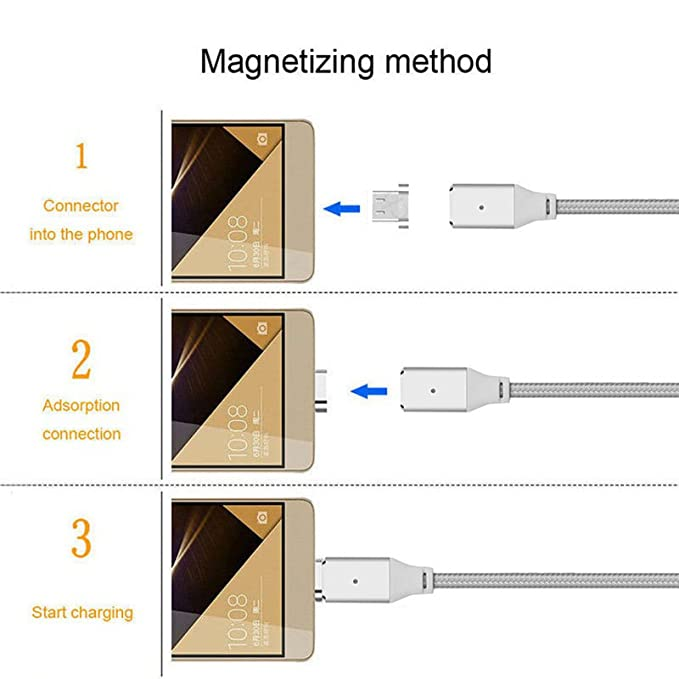 superior ZRL® Magnetkabel Metall Micro USB Magnetkabel Daten Sync ...
