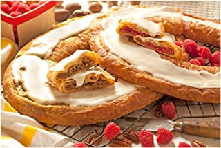 product image for O & H Danish Kringles, Set of Two, Pecan and Raspberry Kringle. Gourmet Danish Kringle Holiday Food Gift. A favorite for Thanksgiving, Christmas, Easter and more!