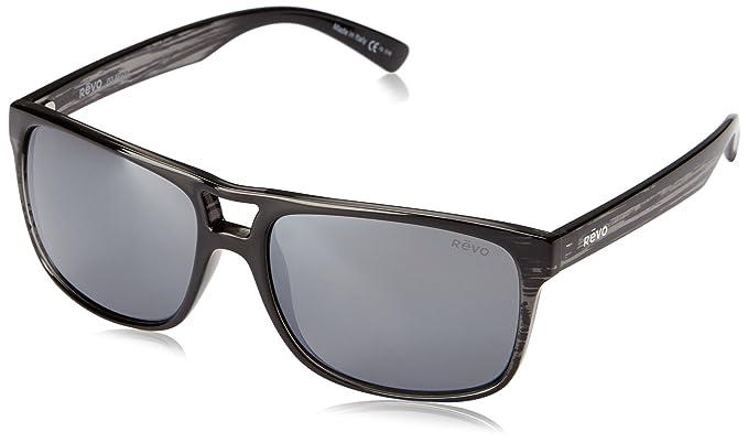 8d949428d3 Amazon.com  Revo Holsby RE 1019 01 GY Polarized Square Sunglasses ...