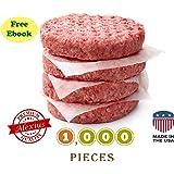 Patty Paper, Hamburger Wax Paper, 5.5 x 5.5 - 1000pcs