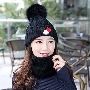 MASTER-Halloween Navidad sombreros  beanie Otoño Invierno hat espesada hat señoras  gorro protectores auditivos tejidas cap cabeza tapa negra  Amazon.es  ... 7edb861e088