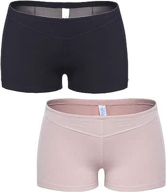 Vaslanda Open Butt Lifter Shapewear Compression Boy Shorts Tummy Control Panties Seamless