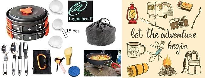 Amazon.com: Lightahead - Juego de 15 piezas de utensilios de ...