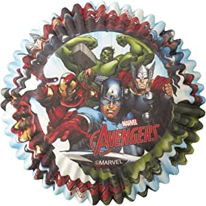 Wilton 50 Count Marvel Avengers Baking Cups, Multicolor