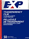 EXP Transparency Film for Black and White Laser Printers - EXP00562