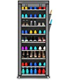 PAffy Shoe 9 Tier Cloth Cabinet, Shoe Rack Organiser, Color – Random