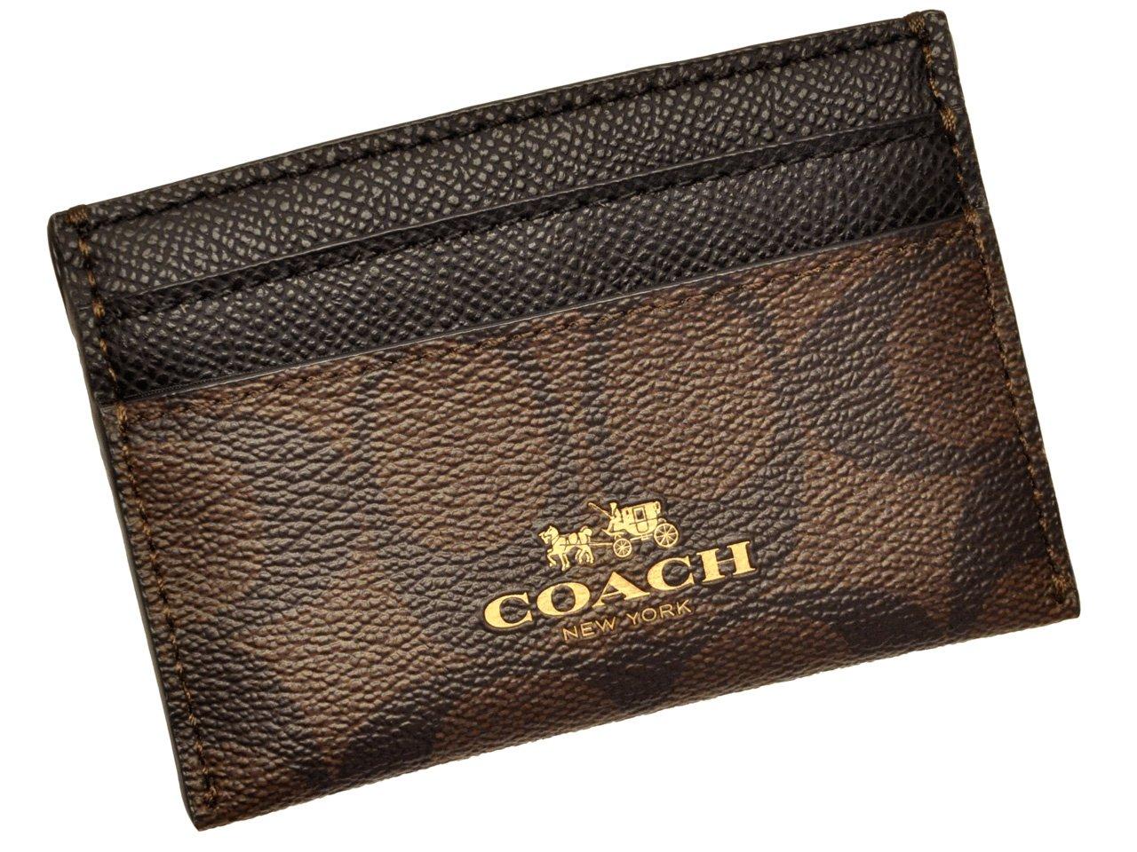 (コーチ)COACH 小物(カードケース) F63279 ラグジュアリー シグネチャー カード ケース レディース [アウトレット品] [並行輸入品] B00RYGWANS ブラウン×ブラック ブラウン×ブラック