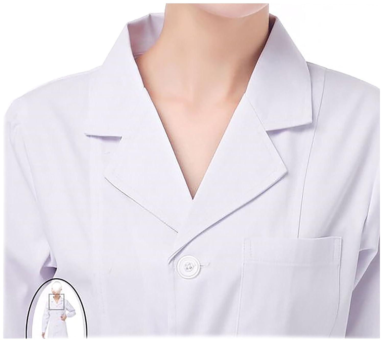 WDF bata de laboratorio médicos bata uniforme de trabajo enfermera ...