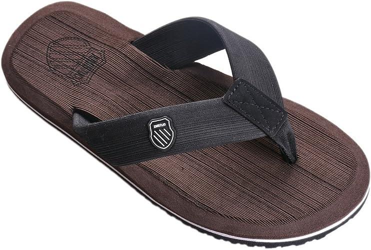 Vertvie Herren Flip Flops Sommer Schuhe Strand Sandalen