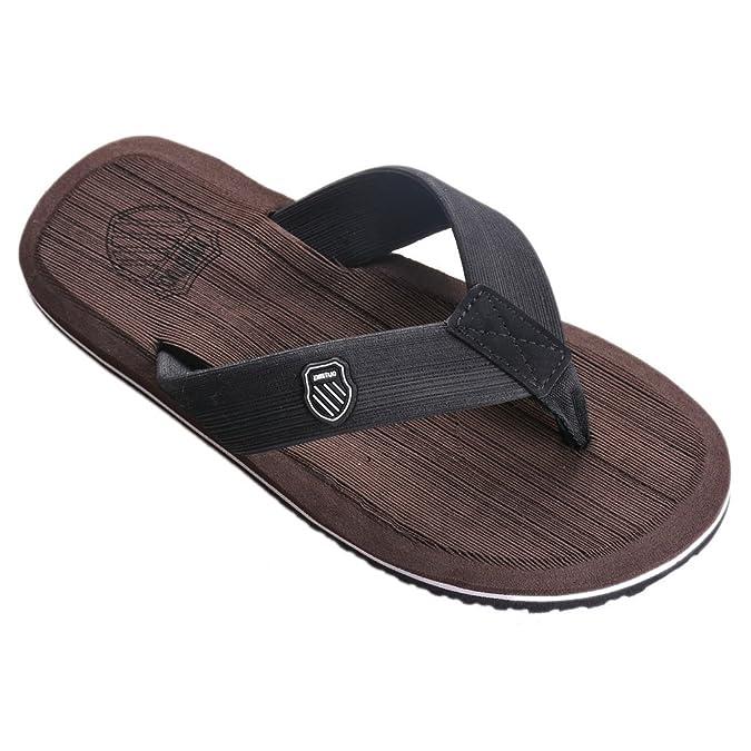 34219ed18 Vervie Men s Slippers Flip Flop Sandals Summer Beach Flat Anti-Slip  Slipper  Amazon.co.uk  Shoes   Bags