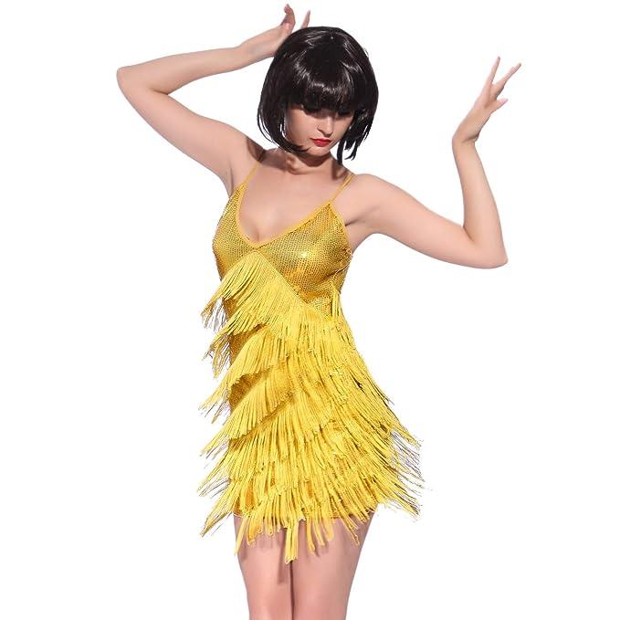 Amazon.com: Vestido de cóctel con flecos y ...