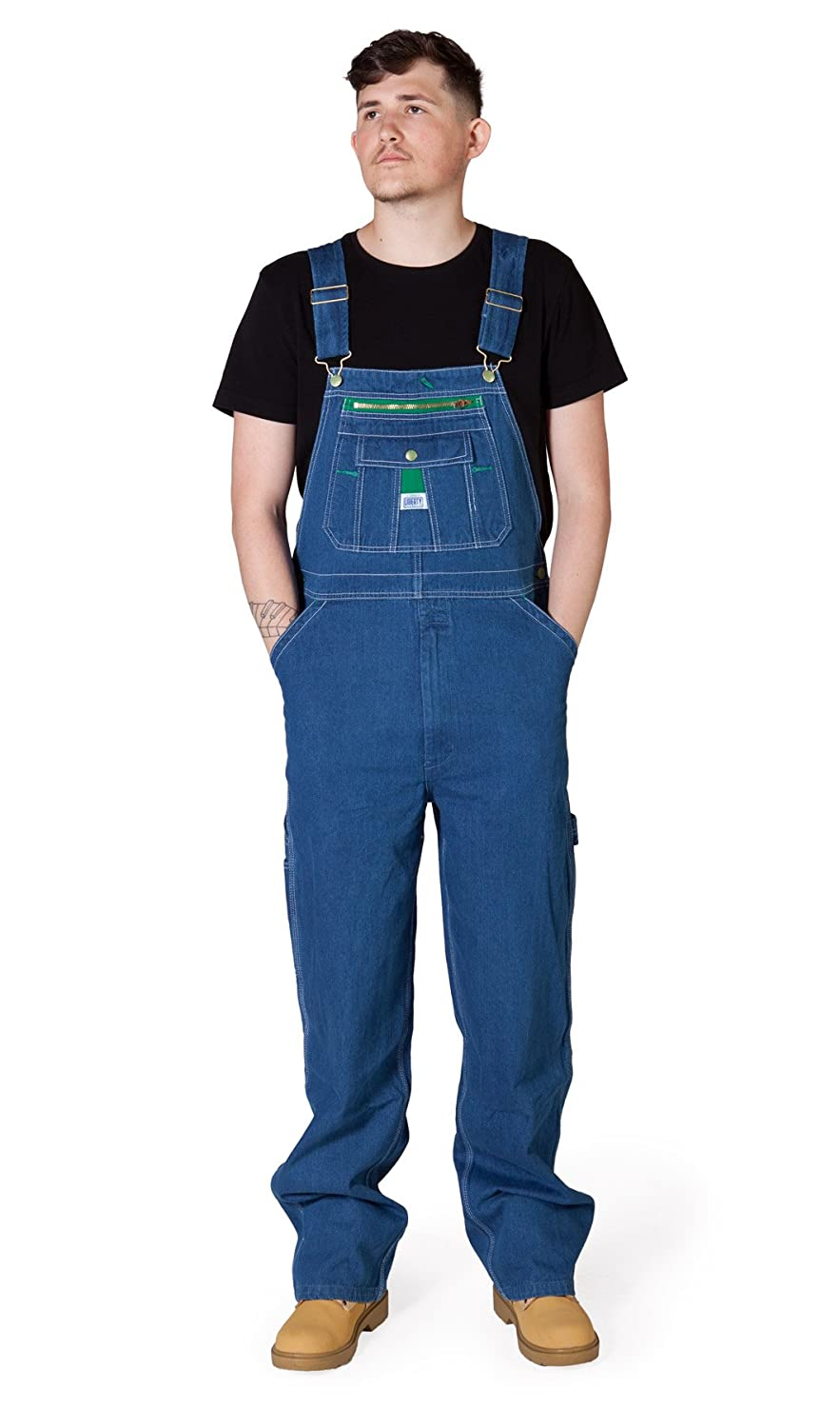 Liberty Stonewashed Denim Work Dungarees Mens Dungarees Bib Overall Big and Tall LIBSW
