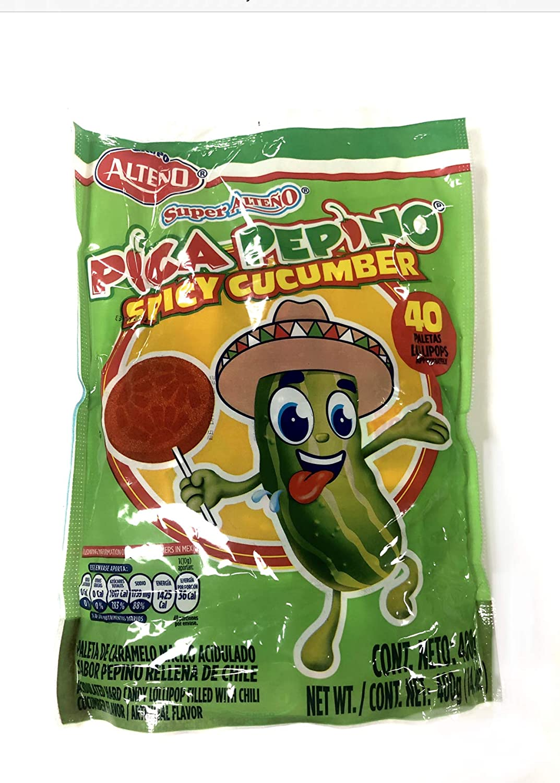 Alteno Super Pepino (Cucumber) with Chili Lollipop (40Piece)-SET OF 2