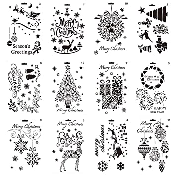 iSuperb Weihnachten Schablone Bullet Journal Set DIY Zeichnen ...