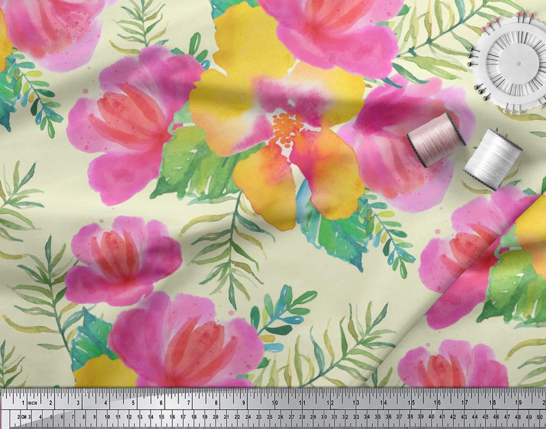 f5401f6dbbfb Soimoi Schwarz Viscose Chiffon Stoff Blumen Stoff Blumen-Druck von Metern  42 Zoll Breite  Amazon.de  Küche   Haushalt