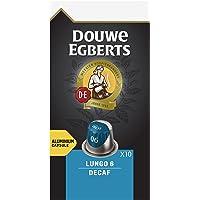 Douwe Egberts Koffiecups Lungo Decaf (100 Capsules, Geschikt voor Nespresso* Koffiemachines, Intensiteit 06/12…