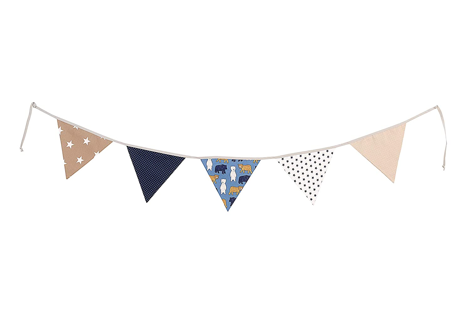 Personalised Bunting Grey//Star//Chevron Double Sided 100/% Cotton Fabric Named