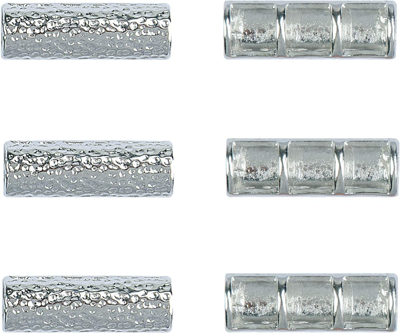 OMECKY Bead Connectors for Watch Band Making, Silver (3 Pack)