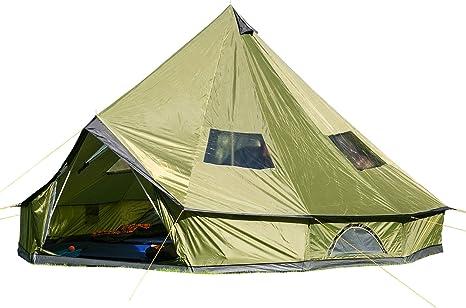 Skandika Molde 16065 - Tienda de campaña Tipi 10 Personas - Columna Agua 4000 mm - Verde: Amazon.es: Deportes y aire libre