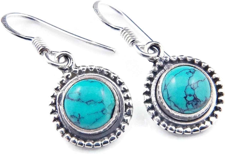 Türkis Ohrringe 925 Silber Sterlingsilber Ohrhänger blau grün MOH 143-15