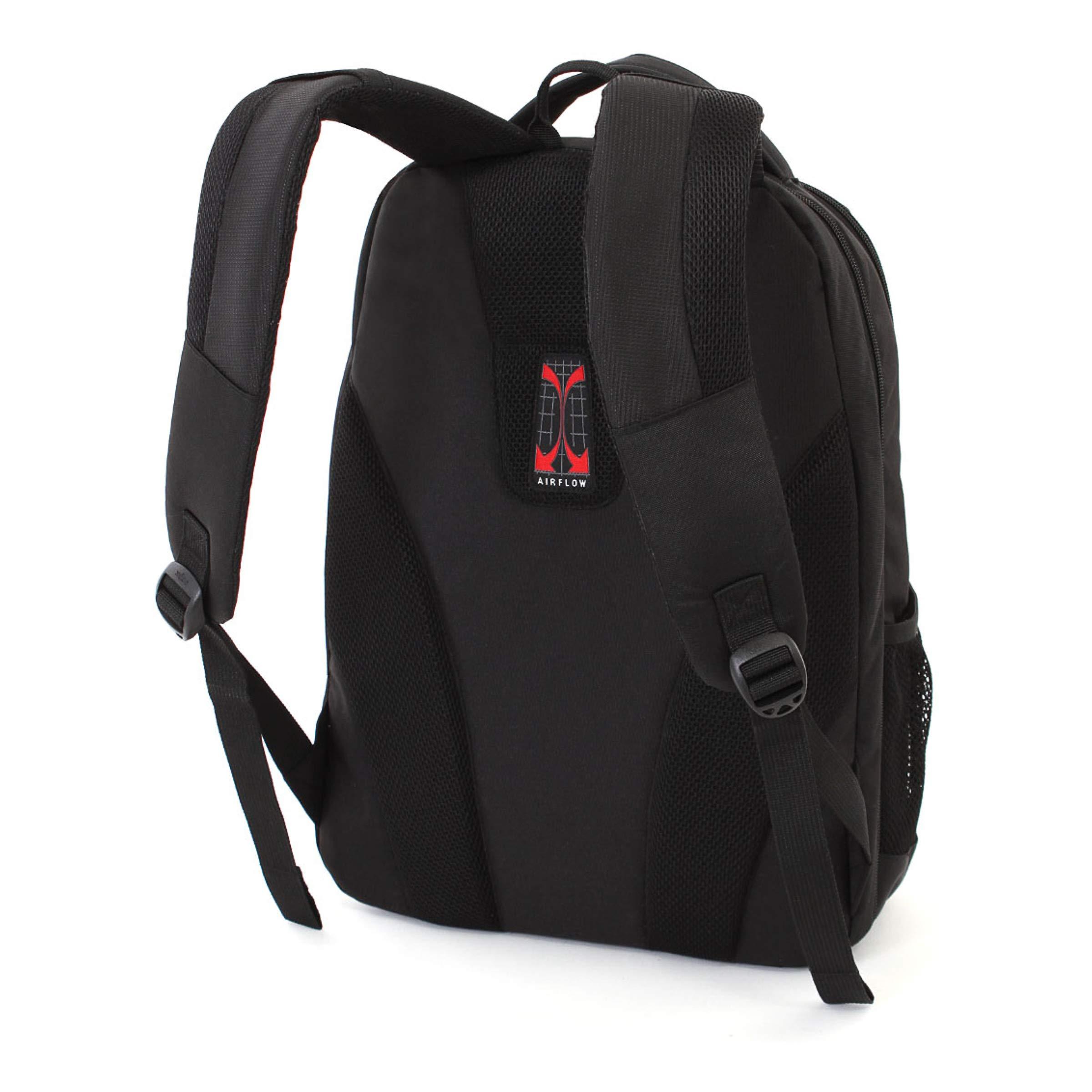 SWISSGEAR Large, Padded, ScanSmart 15-inch Laptop Backpack | TSA-Friendly Carry-on | Travel, Work, School | Men's and Women's - Black by Swiss Gear (Image #2)