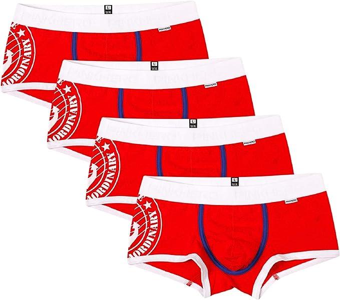 Tuopuda Calzoncillos para Hombre Ropa Interior Boxer Slip Algodón Pack de 4: Amazon.es: Ropa y accesorios
