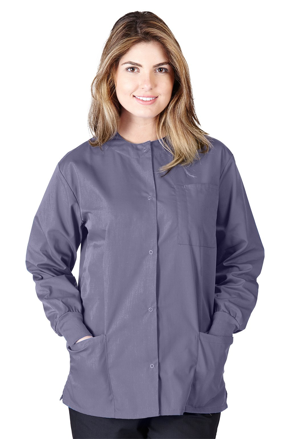 Natural Uniforms Women's Scrub Warm Up Jacket (Plus Sizes Available) (XX-Large, Charcoal)