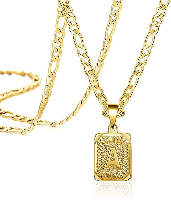 Joycuff Personalized Hexagon Alphabet A-Z Anklet 18K Real Gold Plated Foot Jewelry Gift for Her Mom Daughter Bridesmaid Gift Birthday Gift