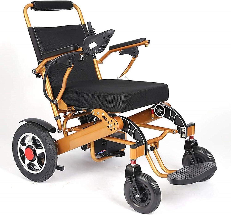 Silla de ruedas eléctrica, Fold & viaje portátil silla de ruedas motorizada Energía Eléctrica Vespa, Viajes Aviación Segura Electric es compatible con la silla de ruedas de 365 libras (13-Oro Anch