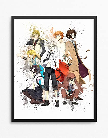 Bungou Stray Dogs Print, Bungou Stray Dogs Poster, Anime Print Watercolor  N 001 (8 x 10 inch)