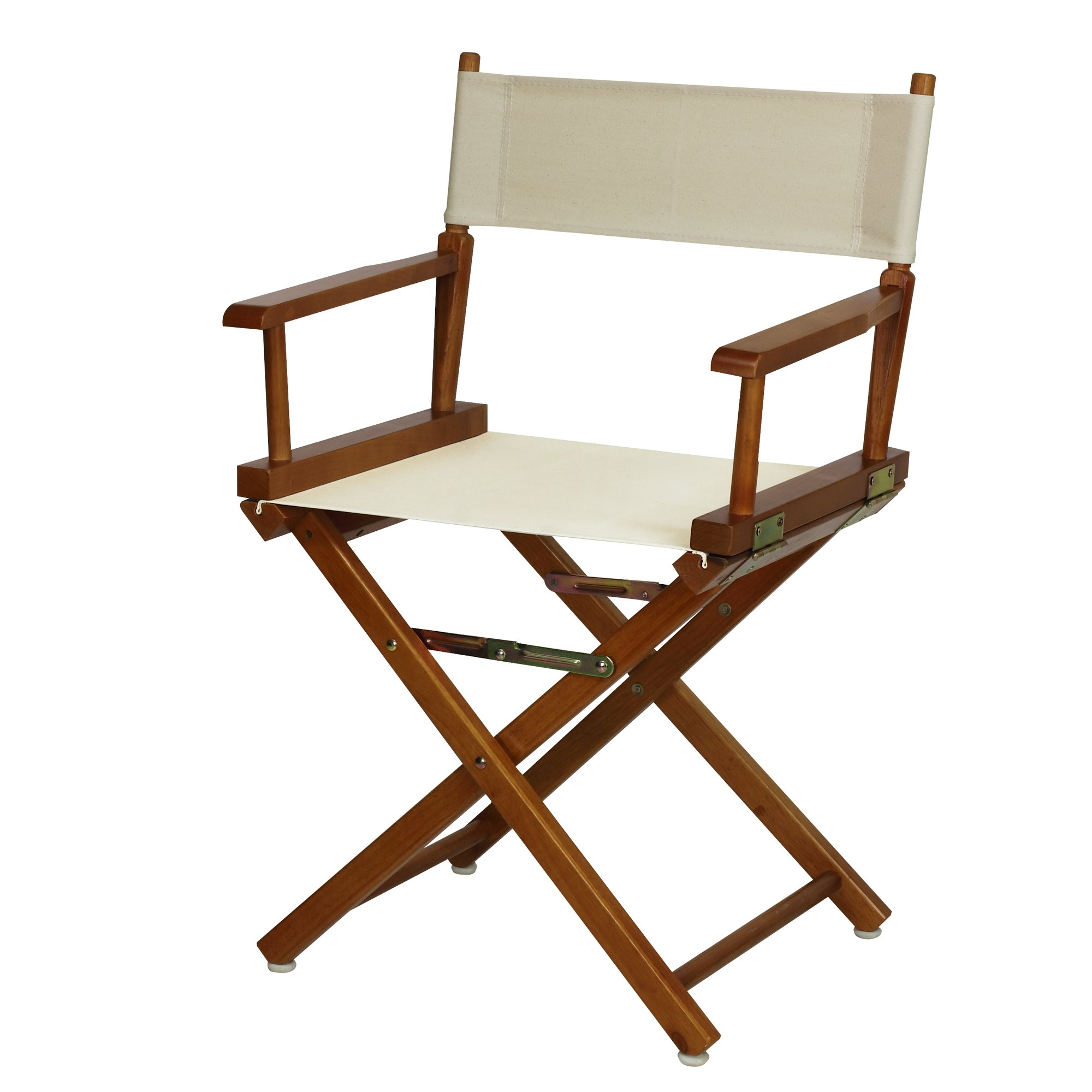 Casual Home 18'' Director's Chair Honey Oak Frame with Wheat Canvas