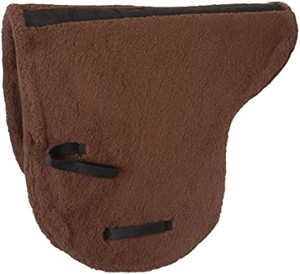 Australian Saddle Pad Brown Deluxe Fleece Outrider Collection