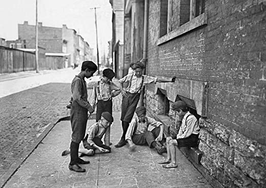 Amazon.com: Boys Shooting Craps C1908 Ngroup Of Boys Gambling With Dice On  The Sidewalk Of Cincinnati Ohio Photograph By Lewis Hine C1908 Poster Print  by (18 x 24): Posters & Prints