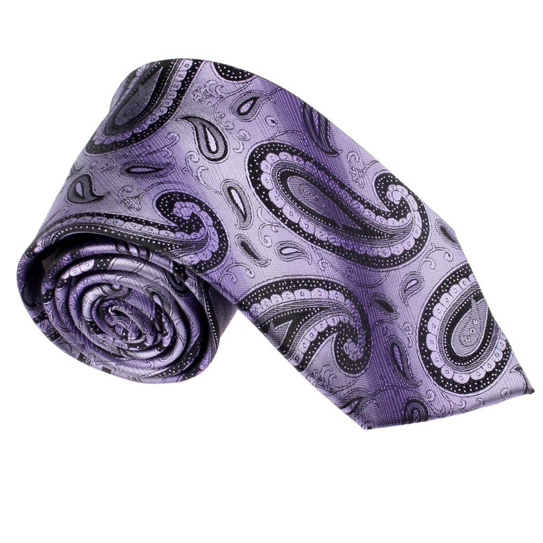 T8335 Purple Paisley Woven Silk Necktie Birthday Presents Box Set By Y&G