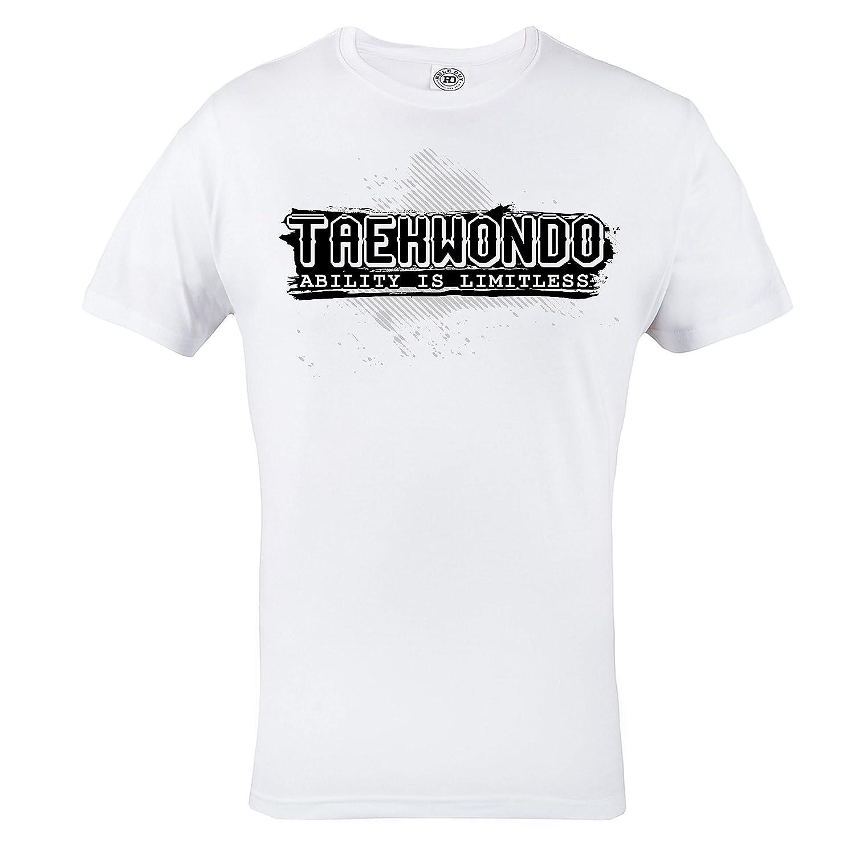 Taekwondo Abilit/à Is Limitless Palestra Rule Out T-Shirt Abbigliamento Sport MMA Casual Abbigliamento Allenamento