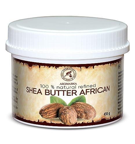 Manteca de Karité Africana 450ml - Refinado - 100% Puro y Natural - Mejor para