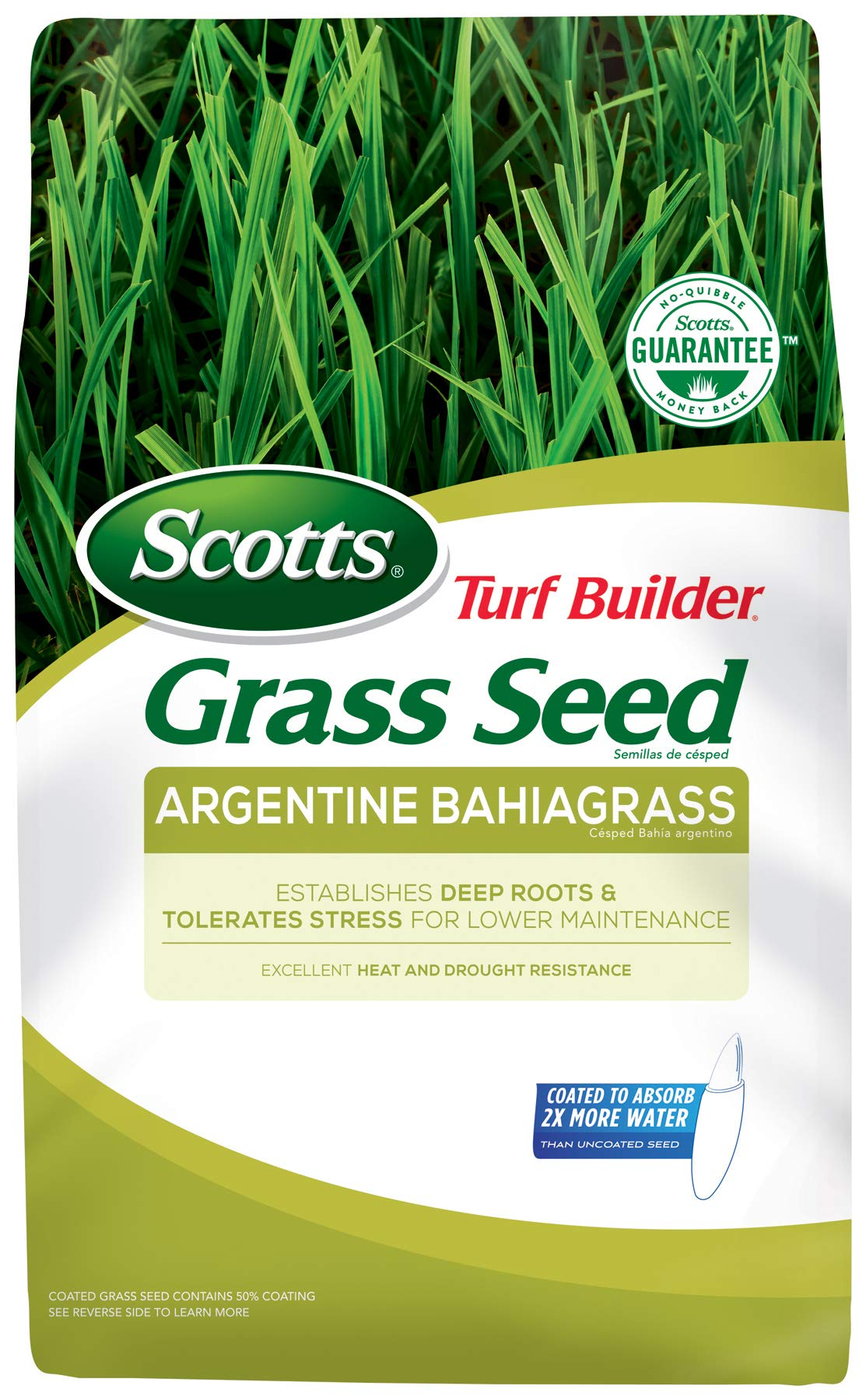 Scotts Turf Builder Grass Seed Argentine Bahiagrass, 10 lb. - Designed for Full Sun and Heat and Drought Resistance - Seeds up to 2,000 sq. ft. by Scotts