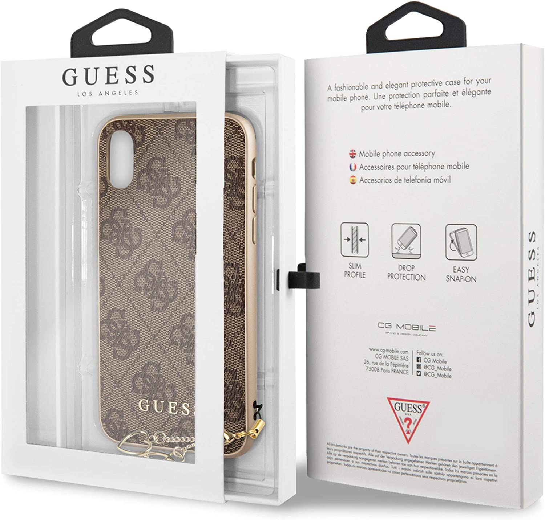 Guess Funda Trasera Original Charms Hard Case 4G para iPhone X: Amazon.es: Electrónica