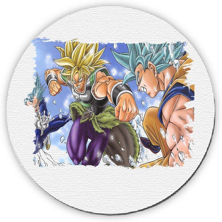 Alfombrilla redonda para ratón de película Broly VS Goku ...