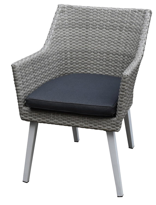 Silla Stratis gris claro y patas en aluminio - Dim: 57 x 60 ...