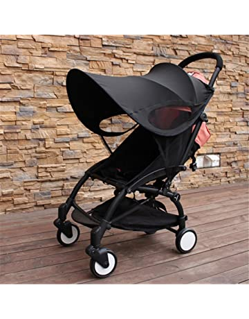 MHOYI Sonnenverdecke Kinderwagen Sonnenschutz Buggy Sportwagen Universal Sonnendach Schwarz 1