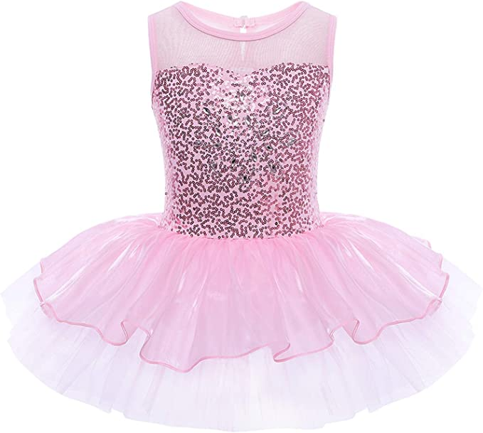 Girls Gymnastics Ballet Dress Kid Leotard with Tutu Wrap Skirt Dancewear Costume